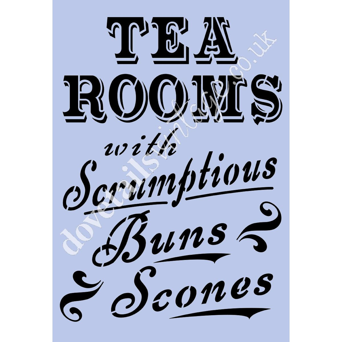 Stencil Tea Rooms 8 x 11 5 Stencil for Walls Paint Projects