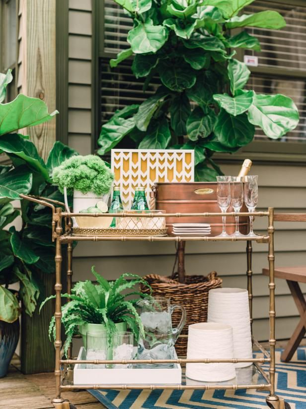 Lovely Portable Outdoor Bar Carts