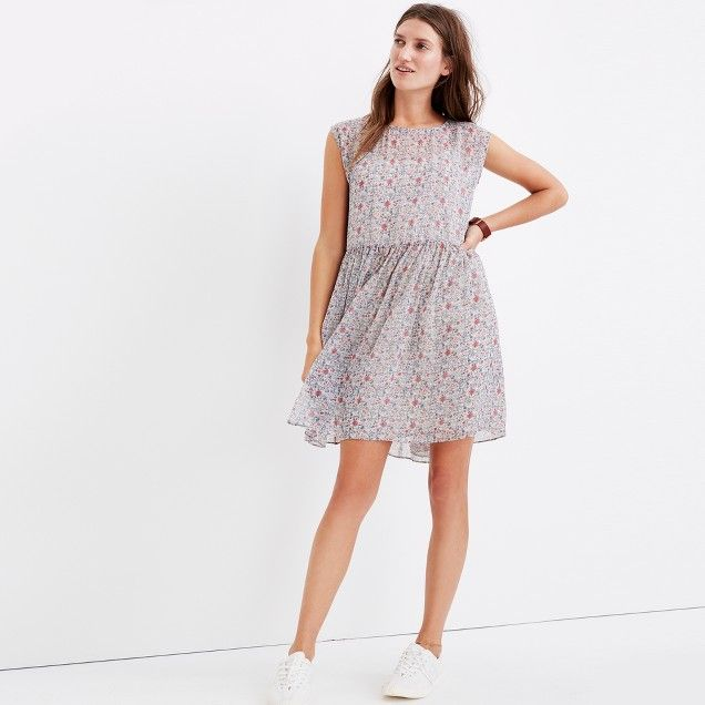 Tie-Back Mini Dress in Shadowpetal