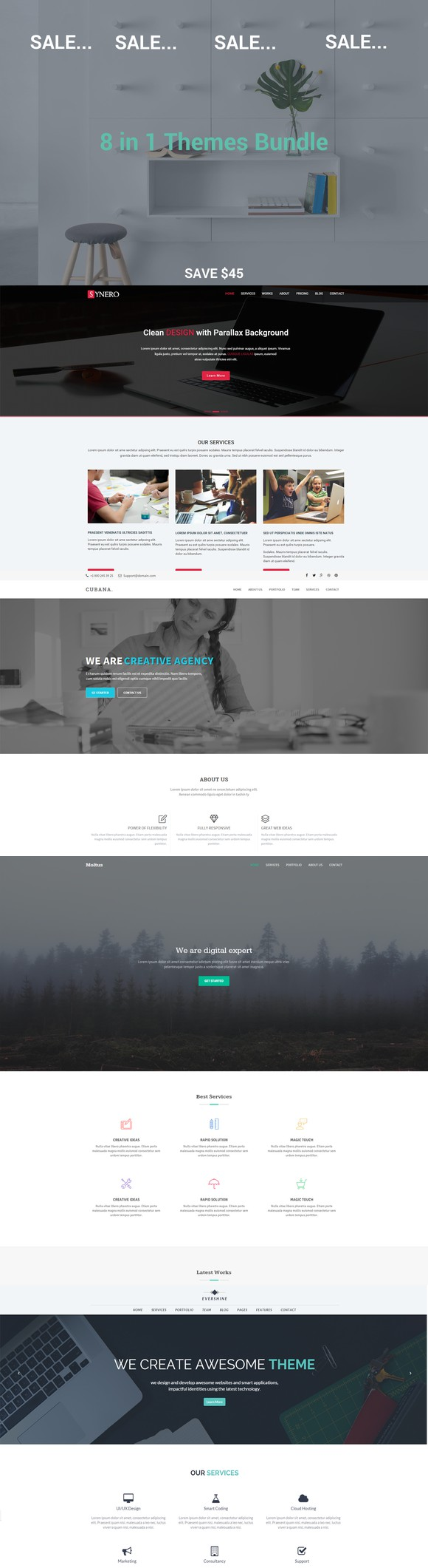 SALE..SALE..SALE - 8 in 1 Theme. HTML/CSS Themes. $15.00 | HTML ...