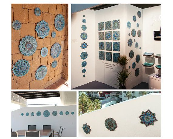 Outdoor Decorative Tiles For Walls Wall Sculpture Made From Ceramic  Circular Wall Sculpture