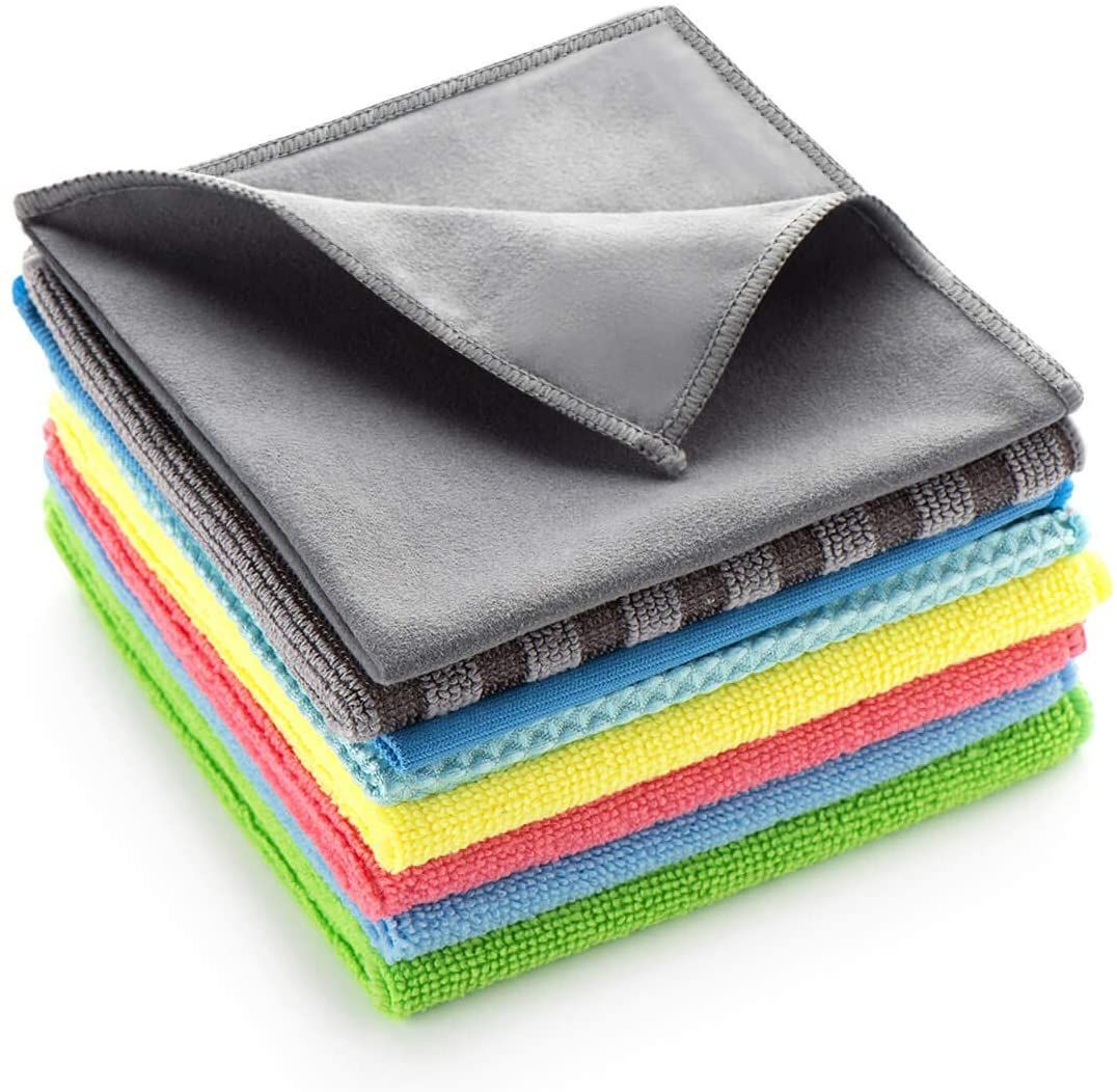 """Microfiber Cleaning Cloths,Pack of 20,Size:12/"""" *12 /""""All-Purpose Softer,Lint-Free"""