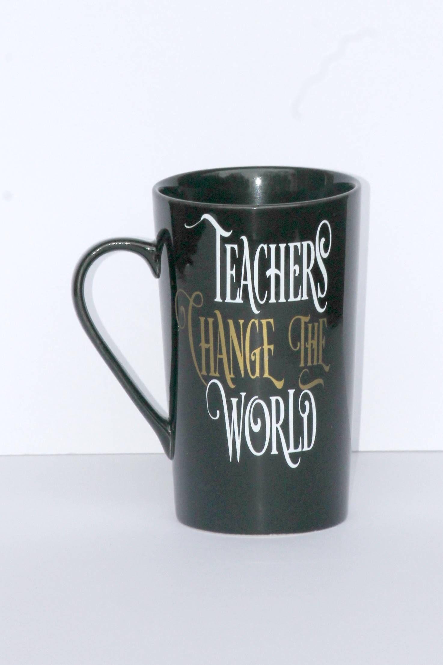 Teachers Change The World Lg Black Coffee Cup