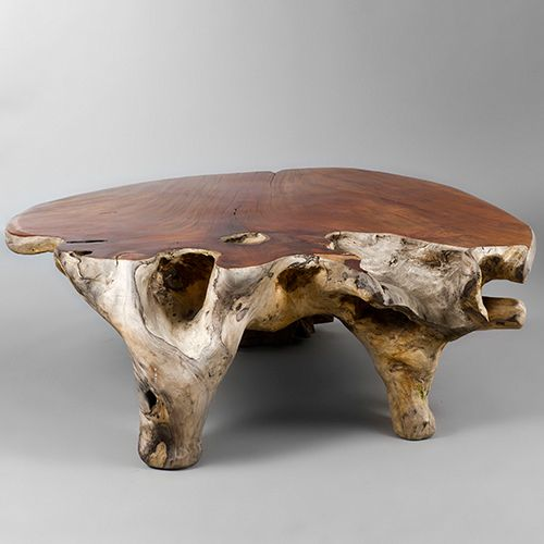 Narra Wood Low Centre Table By Alex Cayet France 1stdibs Com