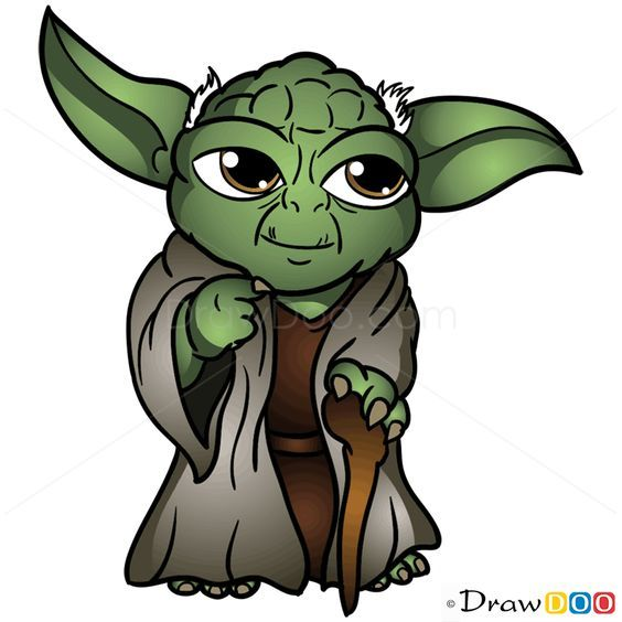 how to draw yoda chibi star wars …  yoda drawing star
