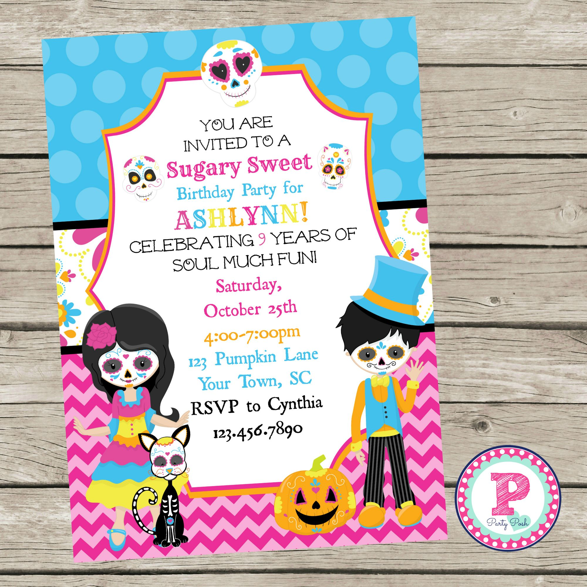 the book of life birthday party invitations The Dead