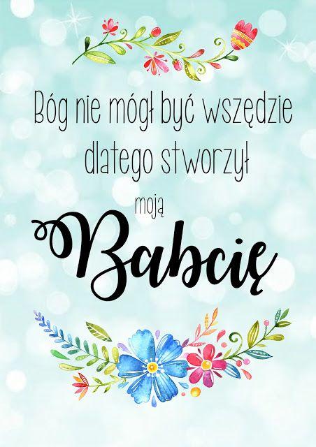 Plakaty Do Pobrania Dzien Babci Crafts For Kids Vinyl Crafts Digi Stamps