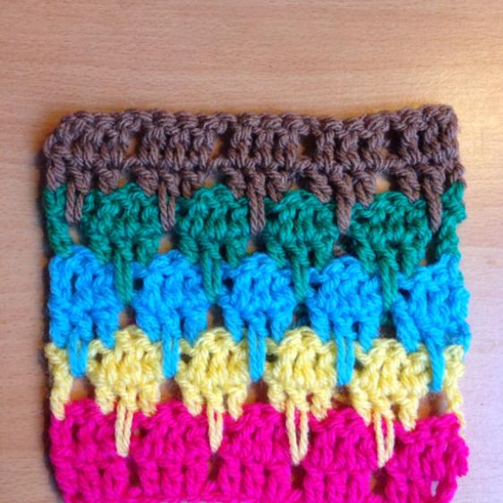 Make the Larksfoot Crochet Pattern Stitch   Guidecentral   haken ...