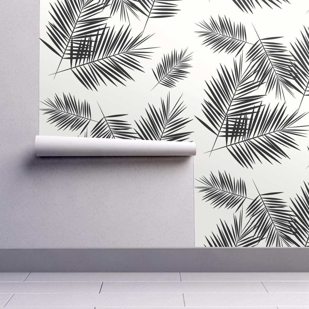 Removable WaterActivated Wallpaper Black + White Palm