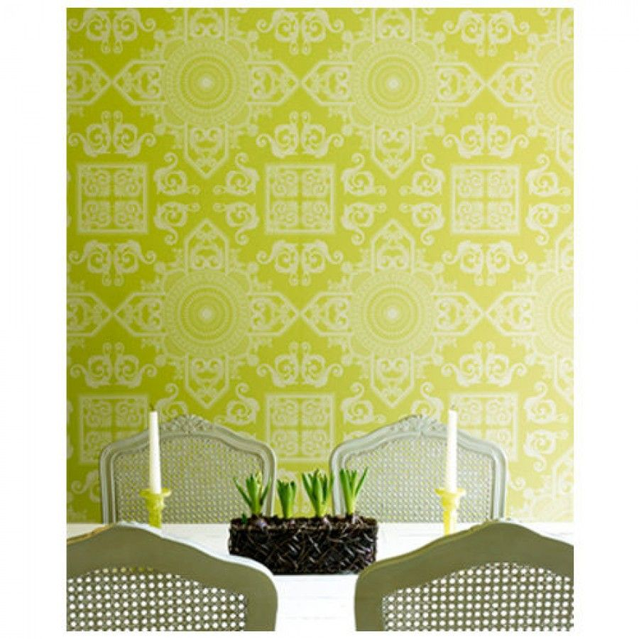 Graham & Brown Mystique Avocado Wallpaper by Laurence Llewelyn-Bowen ...