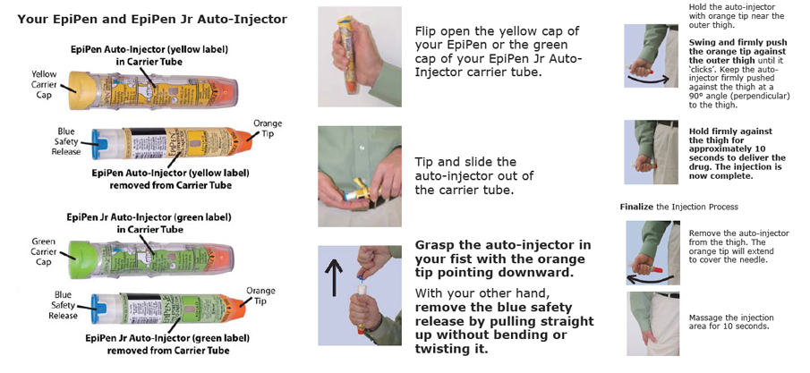 epipen jr instruction sheet