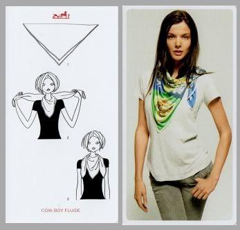 12a1a8c7d9d2 Pretty Portobello  24 ways to tie a scarf - Hermes knotting cards ...