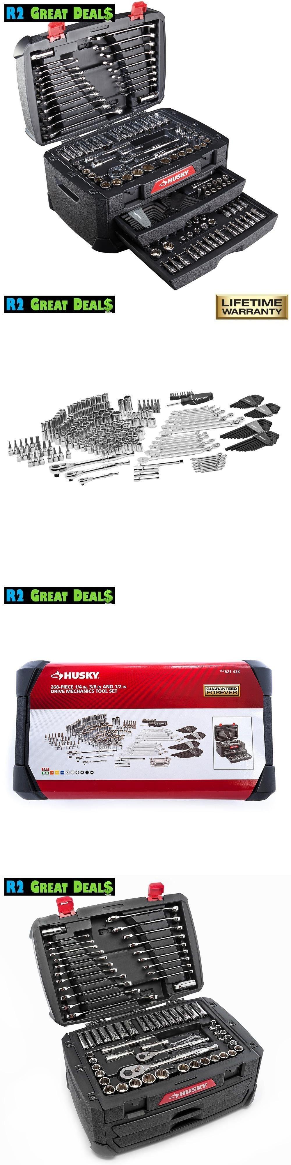 Hand Tool Sets 23782 268 Piece Husky Mechanics Tool Set W Case
