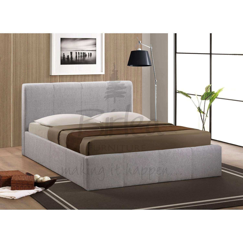 Birlea Brooklyn Grey Ottoman 150cm King Size Bed Framebeds
