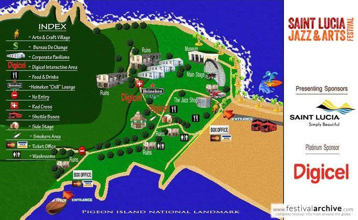 Saint Lucia Jazz 2014 Venue MapSt Lucia Tourist Board Digicel