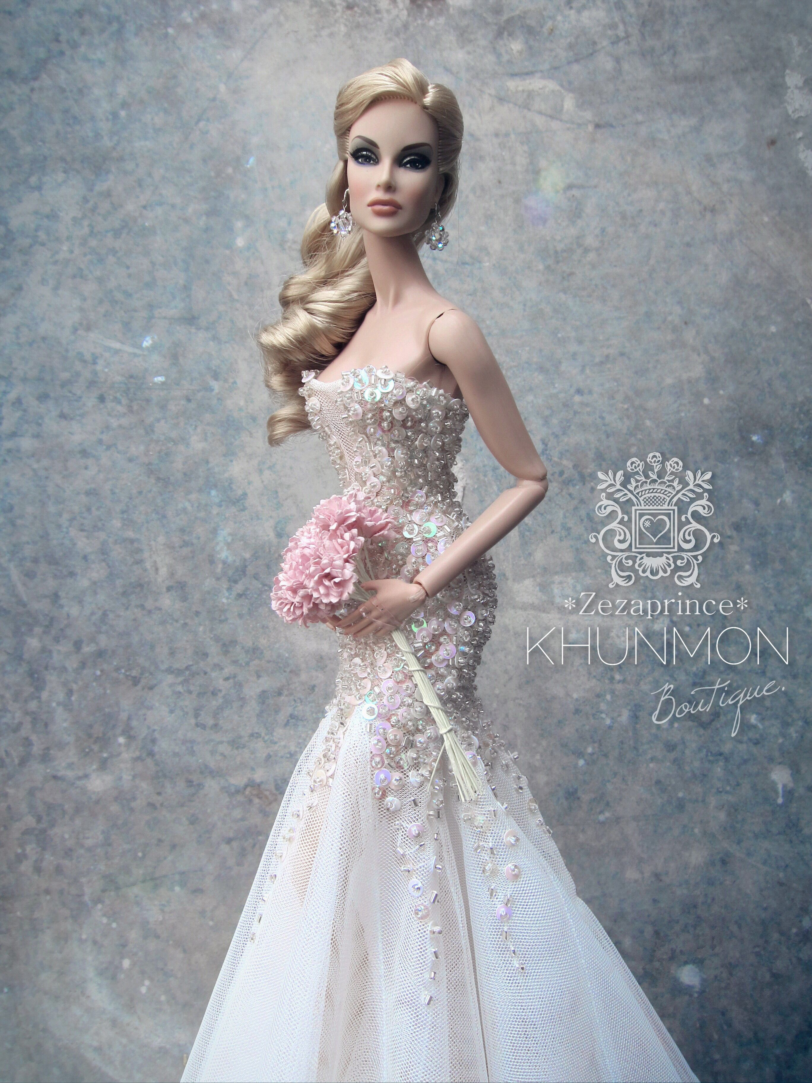 bridal #dolls / 1919  Barbie hochzeitskleid, Barbie braut