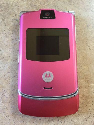 Motorola Razr V3 Pink At T Cellular Phone In 2020 Motorola Razr Cellular Phone Motorola