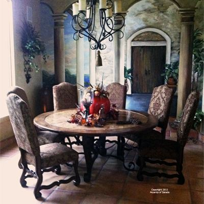 Wish I Had A Better View Of The Chandelier Again Deciding Between Adorable Spanish Dining Room Table Inspiration Design