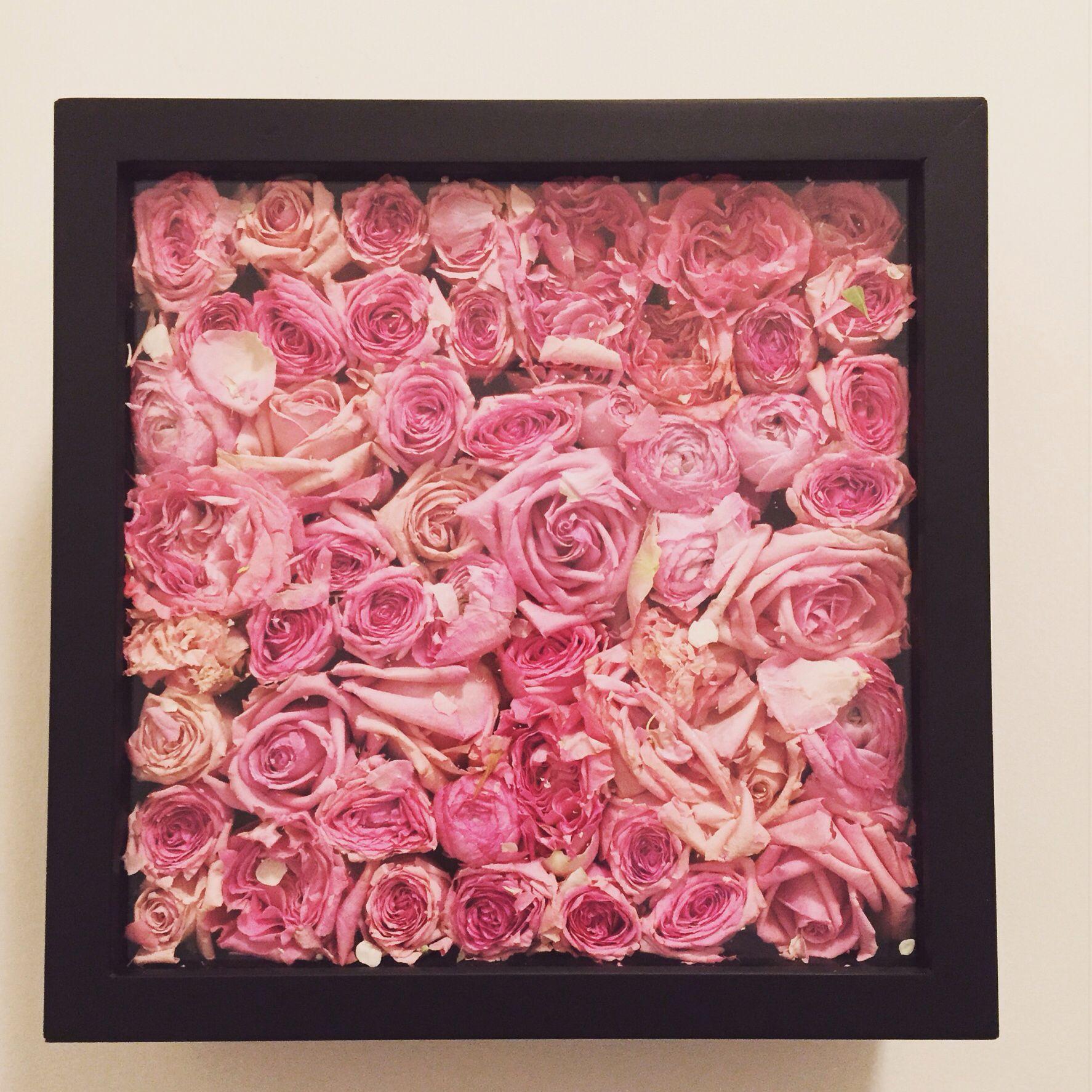 Shadow Box Diy With My Wedding Flowers Freeze Dried By Pink