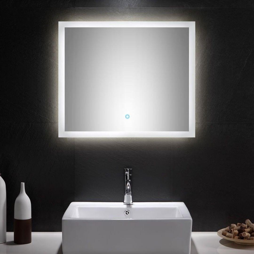 Das Badezimmerset Verona Besteht Aus Einem Waschtisch Mit Integriertem Keramik Waschbecken Und Einem Led Spiegel Bathroom Mirror Lighted Bathroom Mirror Mirror