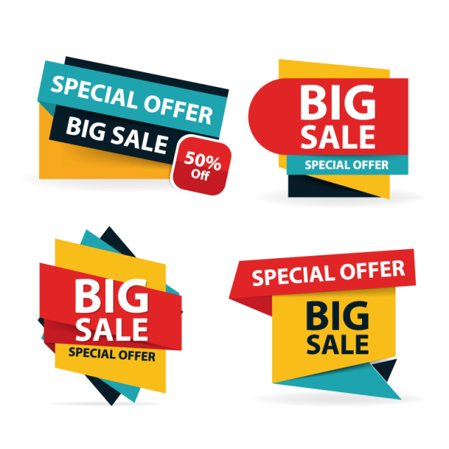 Colorful Shopping Sale Sale Tags Offer Png And Vector With Transparent Background For Free Download Clearance Sale Poster Sale Banner Banner Design Layout