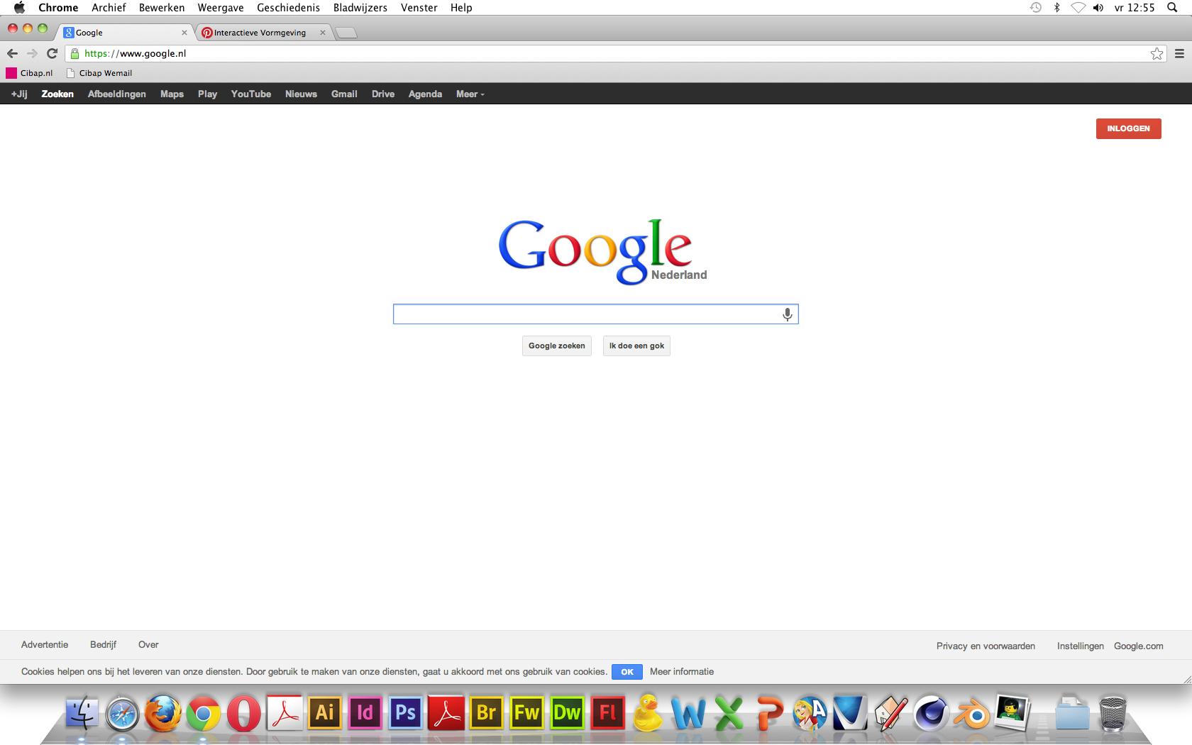 Goede website 2  Vormgeving - Heel erg strak vormgegeven, maar door de typische Google letters is het net niet saai. Navigatie - Heel goed, alles staat netjes naast elkaar in een duidelijk lettertype en duidelijke kleuren bovenaan de pagina. Informatie - Die krijg je pas als je iets in de zoekbalk typt!