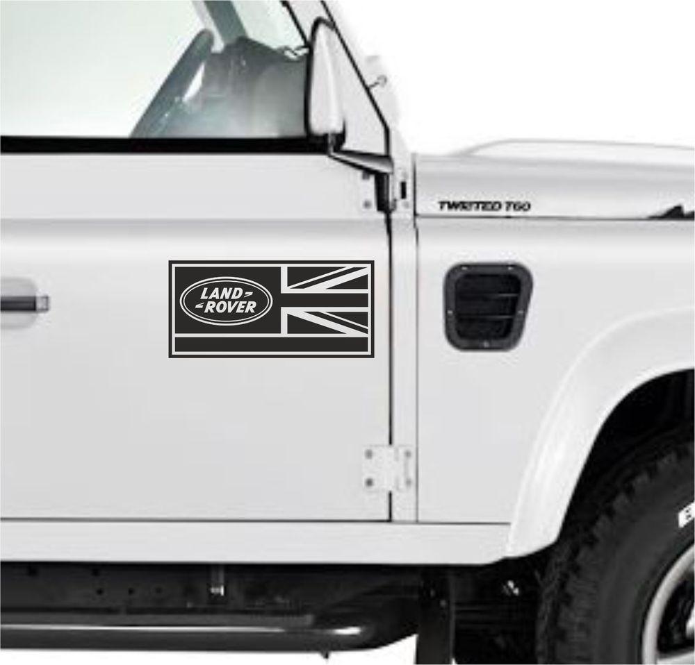 2x Land Rover Defender 90 110 130 Aftermarket Decal Sticker Union Jack Black Land Rover Defender Land Rover Defender 90 [ 958 x 1000 Pixel ]