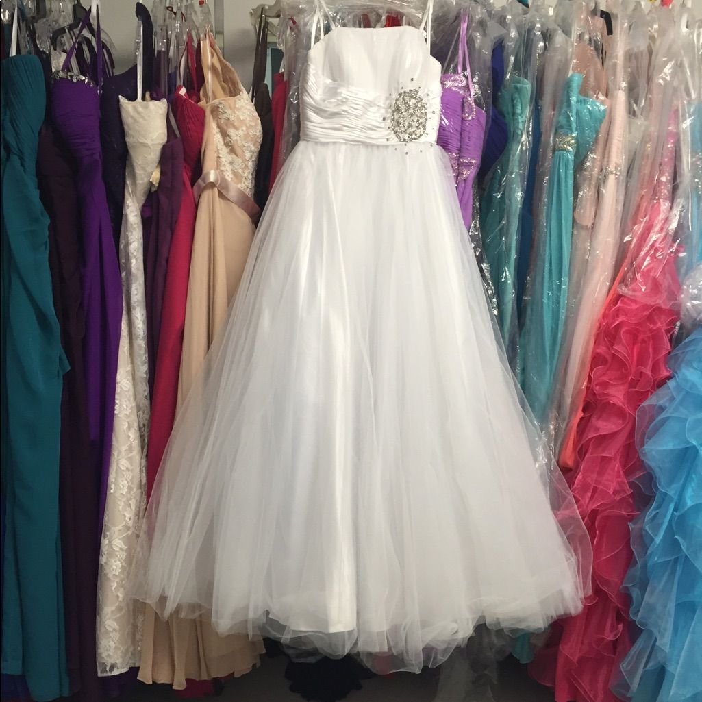 White quinceaera ball gown dress xs ball gown dresses and products