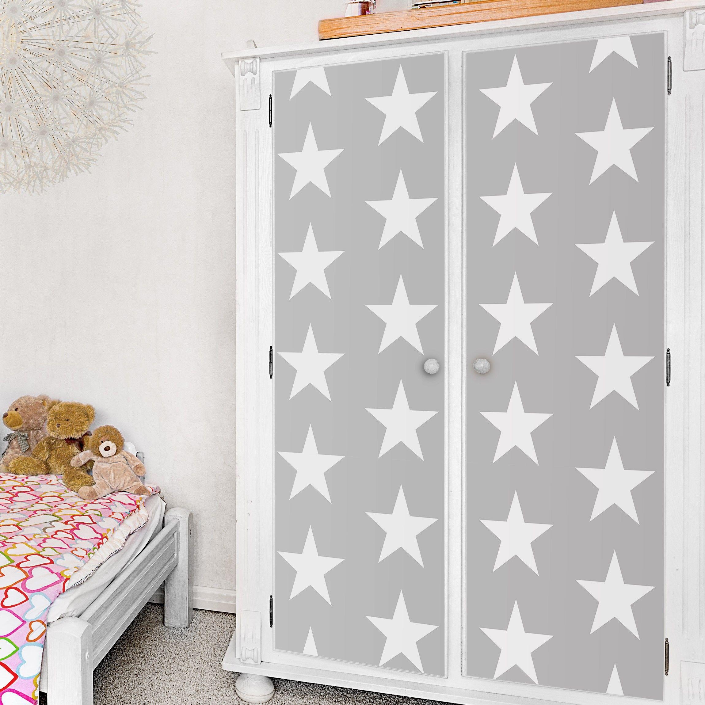 Weiße Möbel: Weiße Sterne Auf Grau