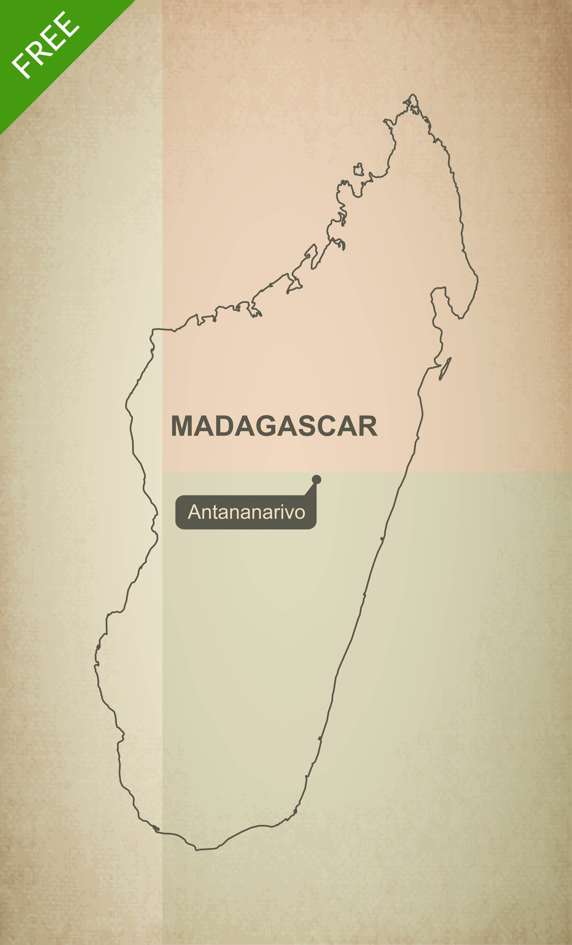 picture regarding Free Printable Map of Africa called Cost-free Vector Map of Madagascar Determine Maps of Africa