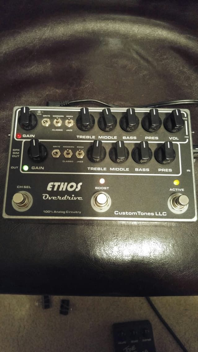 Ethos Overdrive Preamp Ethos Black Black Guitar Effects Pedals Effects Pedals