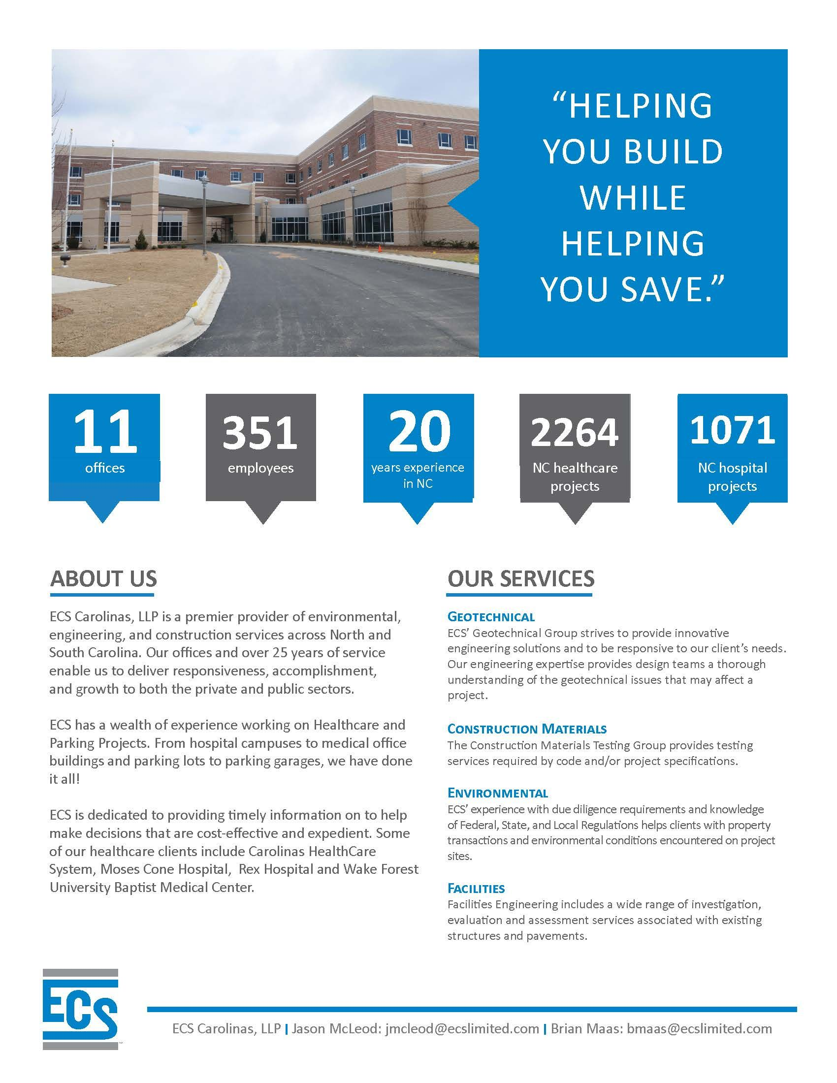 Fact Sheet for NC Healthcare Engineers Conference ...