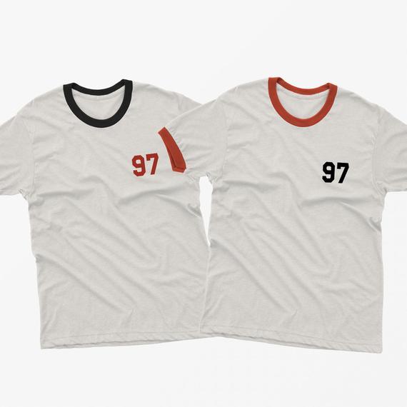 22nd Birthday Gift Present Year 1997 Born In The Uk Womens Heather T-Shirt Tee