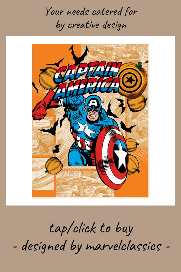 Classic Captain America Halloween Comic Panel Postcard #marvel #retro #vintage #classic #halloweencomic #Postcard