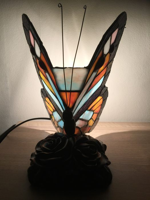 Tiffany-Stil Schmetterling Lampe
