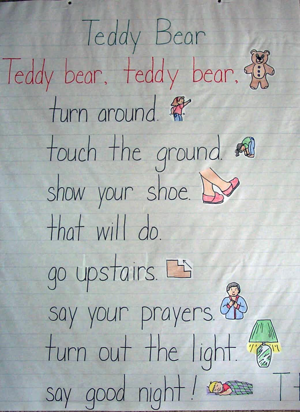 Read The Companion Poem Teddy Bear Teddy Bear To