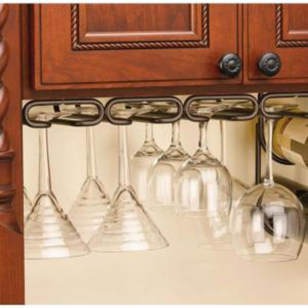 Undermount Glass Rack Helps Keep Things In Sight