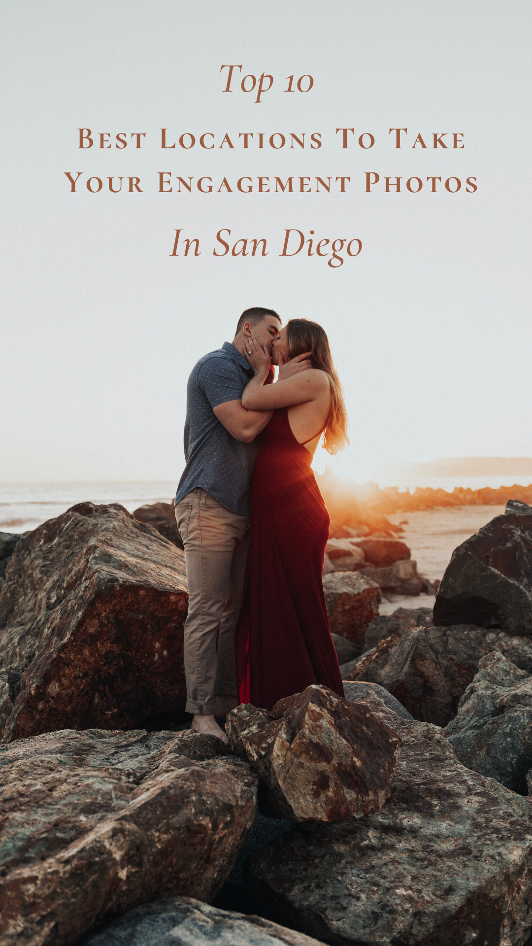 Check out the best locations in San Diego to take your engagement photos! #engagementphotos #engagementphotography #engagementphotoshoot #engaged #sandiegowedding #sandiegocalifornia #coupleshoot #engagementoutfits #couplesoutfit #beachpictures #sandiegobeaches #enagementring #weddingring #weddinginspiration #photographyideas