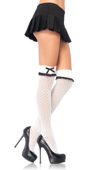cacdfc46a76 Bow Topped Over the Knee Socks
