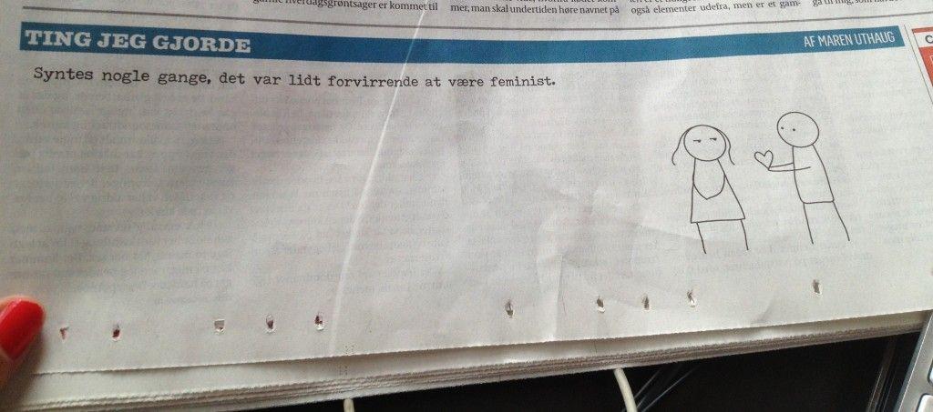 Syntes nogle gange, det var lidt forvirrende at være feminist - marensblog.dk