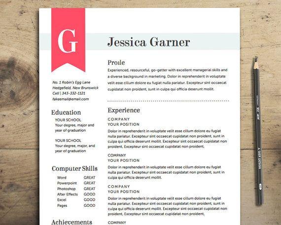 Resume Template - The Garner Resume Design Instant Download - resume template for pages