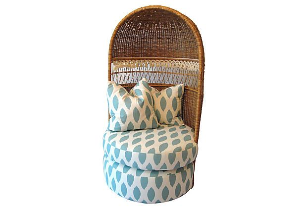 Wicker Canopy Chair on OneKingsLane.com  sc 1 st  Pinterest & Wicker Canopy Chair on OneKingsLane.com | Have A Seat | Pinterest ...