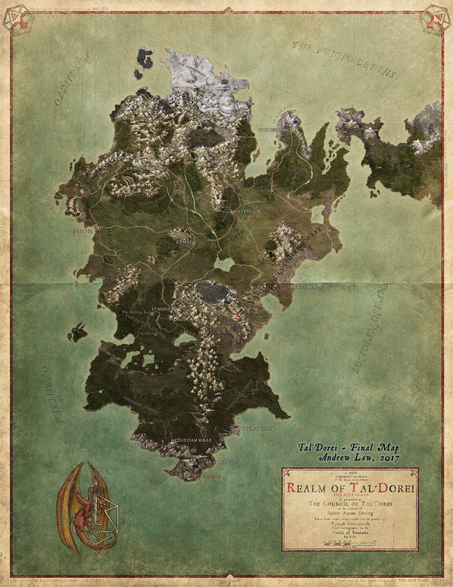 Tal'Dorei Map @ Critical Role / Andrew Law & Matt Mercer ...