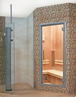 infrarood sauna in badkamer - Google zoeken | interieur ideeën ...