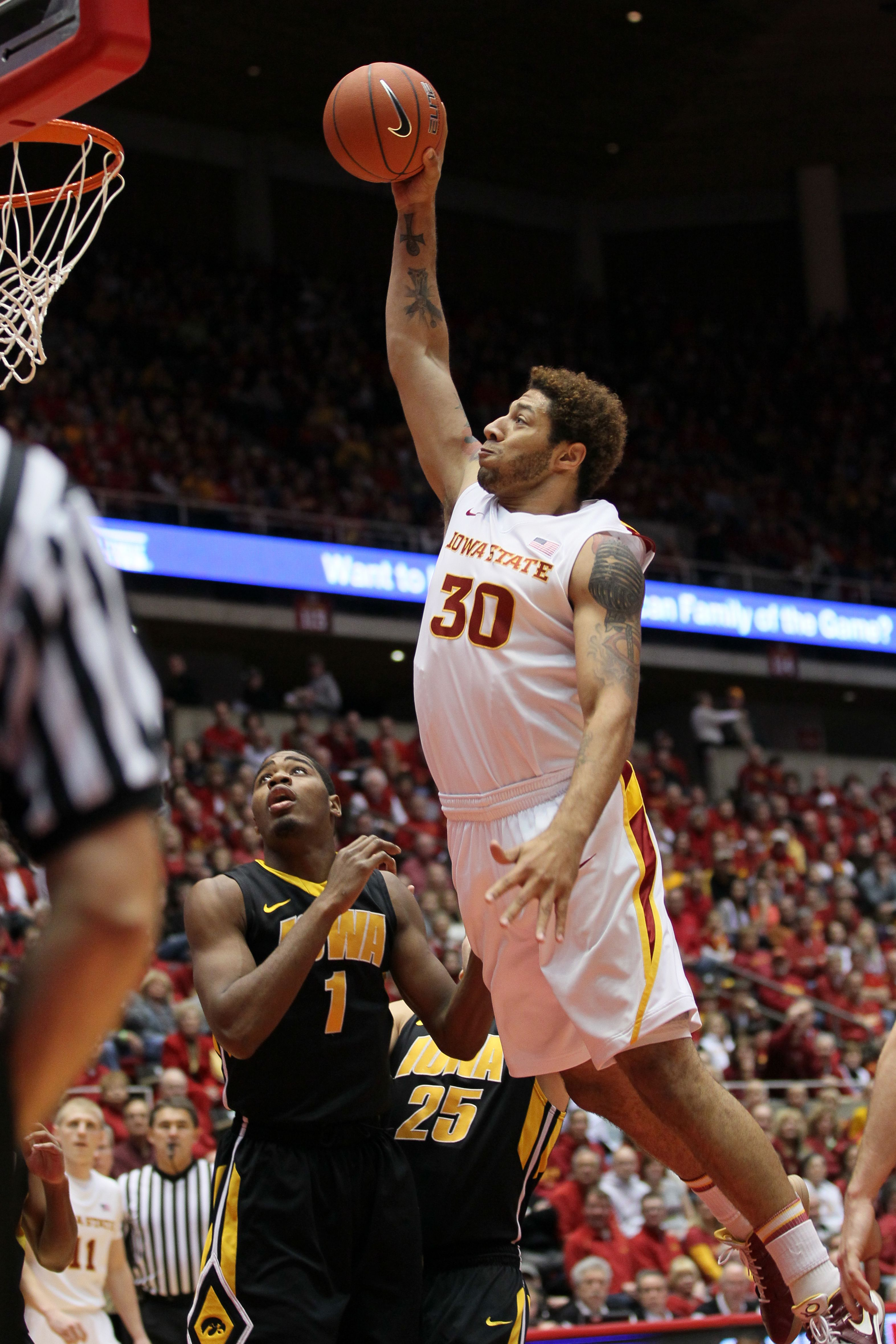 Cyclones are currently tied for third place in the Big 12