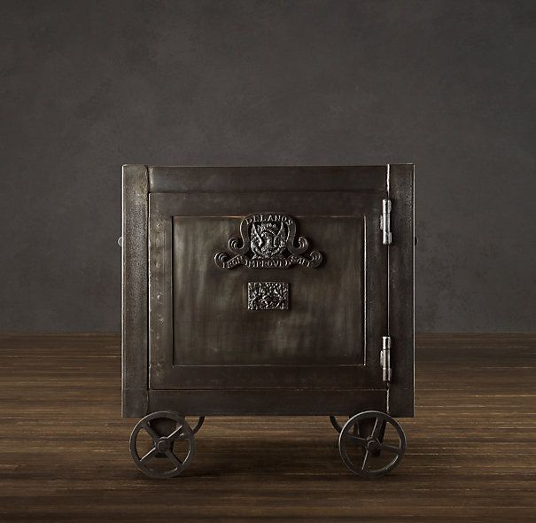 Marvelous Family Room End Table...Antique Safe
