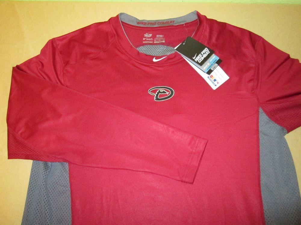 588df8e1 NEW Arizona Diamondbacks MLB Long Sleeve T Shirt 3XL NIKE PRO COMBAT DRI FIT  #Nike #ArizonaDiamondbacks