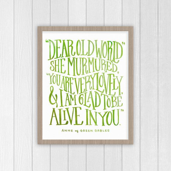 Anne of Green Gables Quote | Anne Shirley Motivational Quote Print | Classic Literature Book Poster
