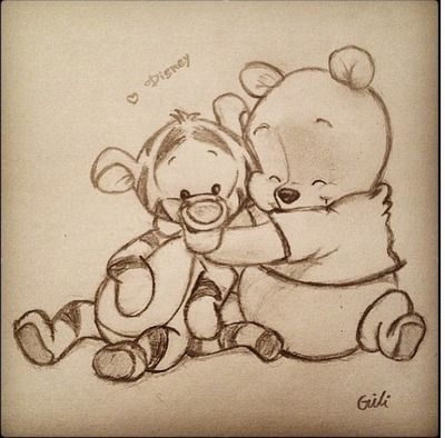 Cute Winnie the Pooh Tiger Friendship hug Disney adorable ...