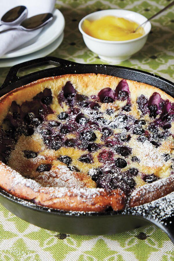 Blueberry Dutch Baby with Lemon Curd   Recipe in 2020 ...